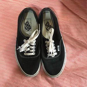 Black Vans women's size 8